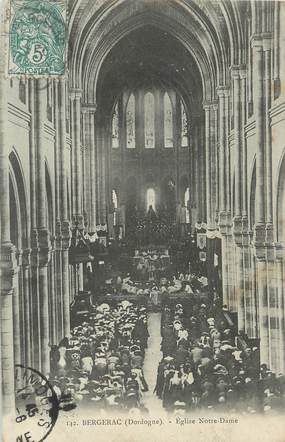 """/ CPA FRANCE 24 """"Bergerac, église Notre Dame"""" / CACHET AMBULANT"""