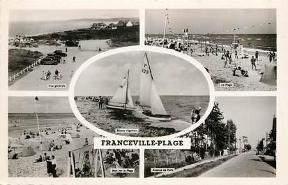 """CPSM FRANCE 14 """"Franceville Plage, vues de la ville"""""""