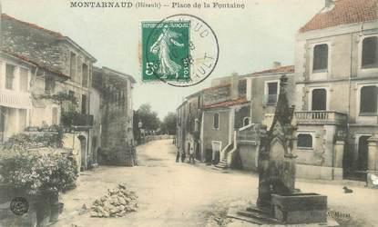 """CPA FRANCE 34 """"Montarnaud, place de la Fontaine"""""""