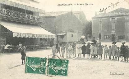 "CPA FRANCE 34 ""Magalas, place Neuve"""