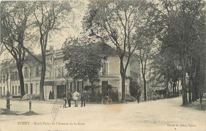 """/ CPA FRANCE 24 """"Eymet, rond point de l'avenue de la gare"""""""