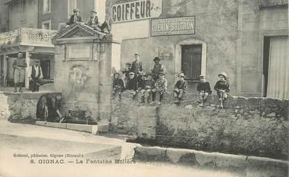 "CPA FRANCE 34 ""Gignac, Fontaine Molière"""