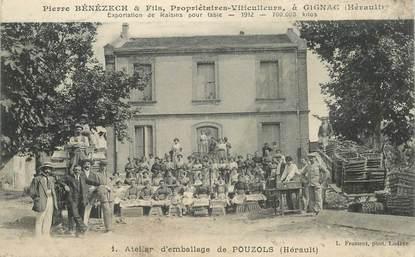 """CPA FRANCE 34 """"Gignac, Atelier d'emballage de Pouzols, viticulteur"""""""