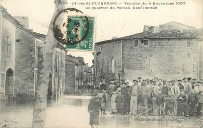 "CPA FRANCE 34 ""Florensac, 1907, inondations"""
