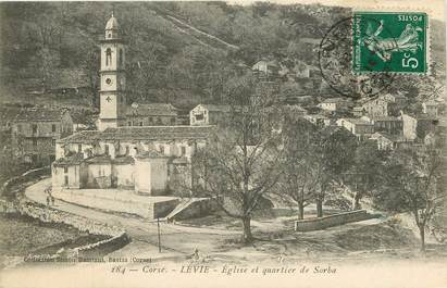"CPA FRANCE 20 ""Corse, Lévie, Eglise et quartier de Sorba"""