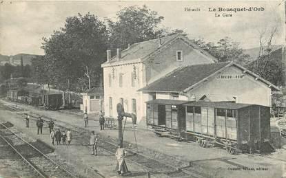 """CPA FRANCE 34 """"le Bousquet d'Orb, la gare"""""""