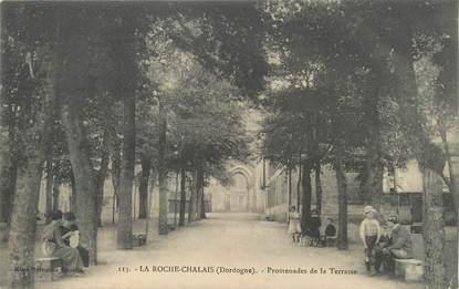"""/ CPA FRANCE 24 """"La Roche Chalais, promenades de la Terrasse"""""""