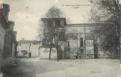 """/ CPA FRANCE 24 """"Saint Léon sur l'Isle, l'église"""""""