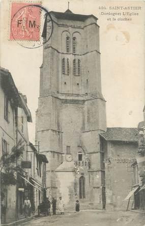 """/ CPA FRANCE 24 """"Saint Astier, l'église et le clocher"""" / F.M"""