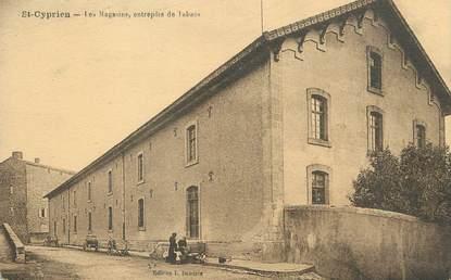 "/ CPA FRANCE 24 ""Saint Cyprien, les magasins, entrepôts de tabacs"""