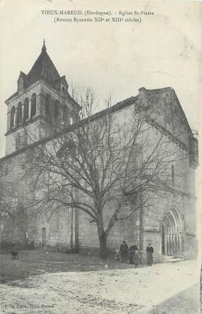 """/ CPA FRANCE 24 """"Vieux Mareuil, église Saint Pierre"""""""