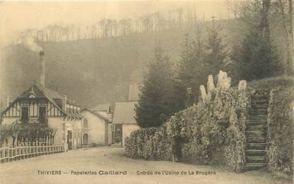 """/ CPA FRANCE 24 """"Thiviers, papeteries Gaillard, entrée de l'usine de la Brugère"""""""