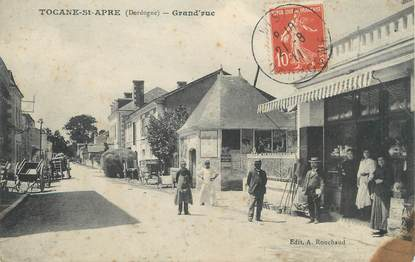 "/ CPA FRANCE 24 ""Tocane Saint Apre, Grand'rue"""