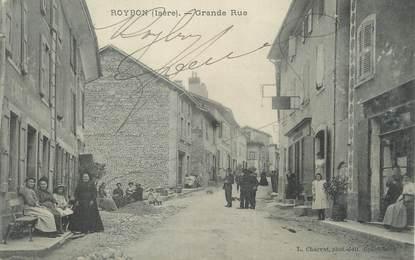 "/ CPA FRANCE 38 ""Roybon, grande  rue"""