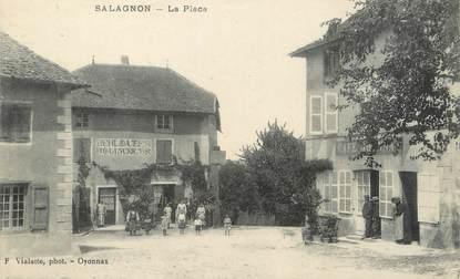 """/ CPA FRANCE 38 """"Salagnon, la place"""""""