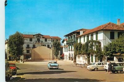 """/ CPSM FRANCE 64 """"Ascain, l'hôtel Etchola, l'hôtel La Rhune et le Fronton"""""""