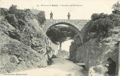 """CPA FRANCE 20 """"Corse, Env. de Bastia, l'Aqueduc de Montepiano"""""""