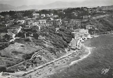 """/ CPSM FRANCE 64 """"Guethary, vue aérienne, la plage et le casino"""""""