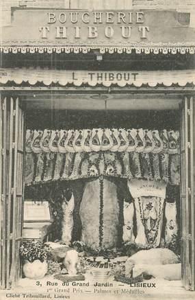 """CPA FRANCE 14 """"Lisieux, Boucherie THIBOUT"""""""