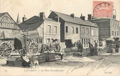 "CPA FRANCE 14 ""Livarot, la Place Paul Banaston"""
