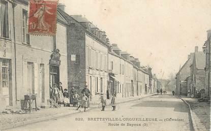 """CPA FRANCE 14 """"Bretteville l'Orgueilleuse, la rte de Bayeux"""""""
