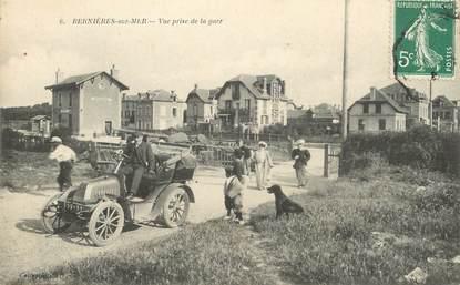 """CPA FRANCE 14 """"Bernières sur Mer, vue prise de la gare"""""""