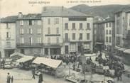 """12 Aveyron  CPA FRANCE 12 """"Saint Affrique, le marché, place de la Liberté"""""""