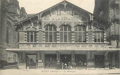 """CPA FRANCE 12 """"Rodez, la Ménagère, le Bazar"""""""