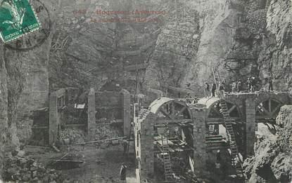 """CPA FRANCE 12  """"Roquefort, la construction d'une cave"""""""