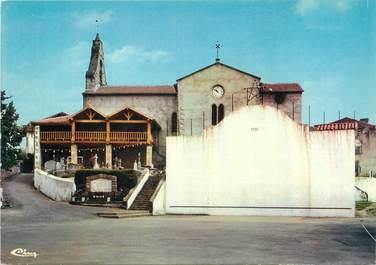"""/ CPSM FRANCE 64 """"Iholdy, l'église, le fronton"""""""