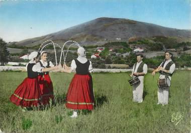 """/ CPSM FRANCE 64 """"Saint Jean de Luz, danse basque"""""""