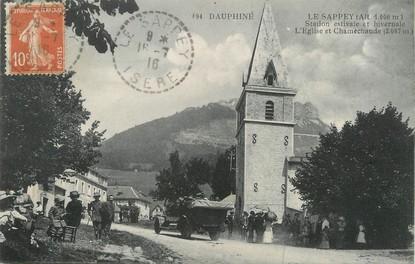 """/ CPA FRANCE 38 """"Le Sappey, l'église et Chamechaude"""""""