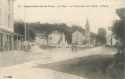 """/ CPA FRANCE 38 """"Saint Clair de la Tour, la place"""""""