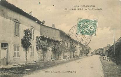 "/ CPA FRANCE 38 ""Saint Hilaire, la rue principale"""