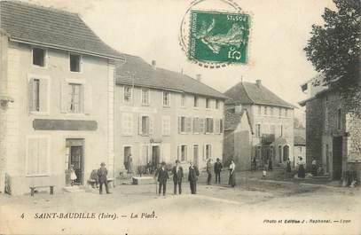"""/ CPA FRANCE 38 """"Saint Baudille, la place """""""