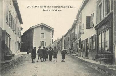"""/ CPA FRANCE 38 """"Saint Georges d'Espéranche, intérieur du village"""""""