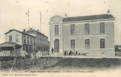 """/ CPA FRANCE 38 """"Saint Maurice l'Exil, mairie et groupe scolaire"""""""
