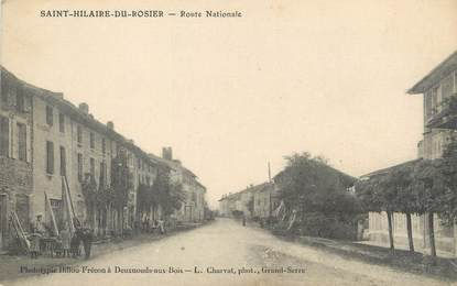 "/ CPA FRANCE 38 ""Saint Alban du Rosier, route nationale"""