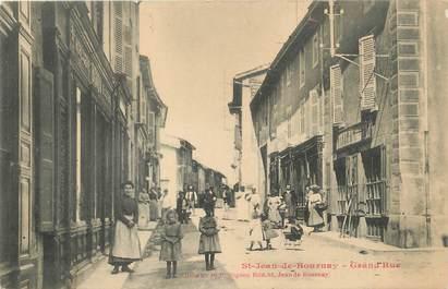 "/ CPA FRANCE 38 ""Saint Jean de Bournay, Grand rue"""