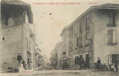 "/ CPA FRANCE 38 ""Saint Etienne de  Saint Geoirs, grande rue"""