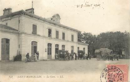 """/ CPA FRANCE 38 """"Saint Marcellin, la gare"""""""