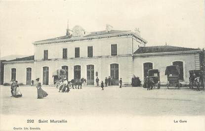 """/ CPA FRANCE 38 """"Saint Marcellin, la gare """""""