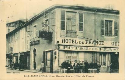 """/ CPA FRANCE 38 """"Saint Marcellin, grande rue et hôtel de France"""""""