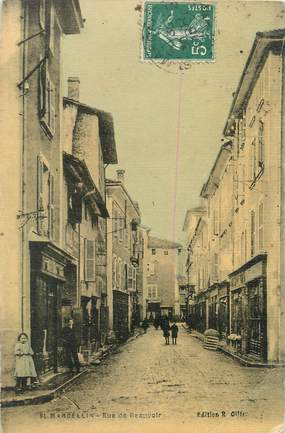 "/ CPA FRANCE 38 ""Saint Marcellin, rue de Beauvoir"""