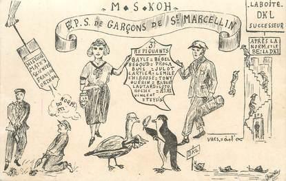 "/ CPA FRANCE 38 ""Saint Marcellin, EPS de garçons"""