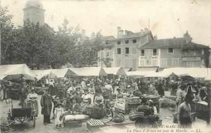 """/ CPA FRANCE 38 """"Saint Marcellin, la place d'Armes un jour de marché"""""""