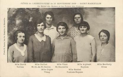 """/ CPA FRANCE 38 """"Saint Marcellin, fête de l'agriculture 1930"""""""