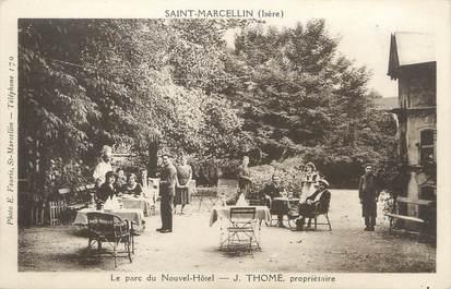 """/ CPA FRANCE 38 """"Saint Marcellin, le parc du nouvel Hôtel"""""""