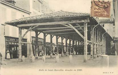 """/ CPA FRANCE 38 """"Halle de Saint Marcellin, démolie en 1900"""""""
