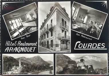 """/ CPSM FRANCE 65 """"Lourdes, hôtel restaurant Aragnolet"""""""